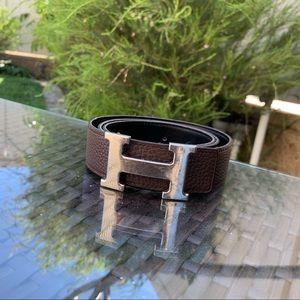 Hermès Constance H buckle reversible belt
